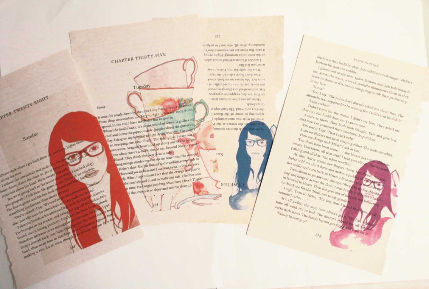 Super Cute Book Page Printing