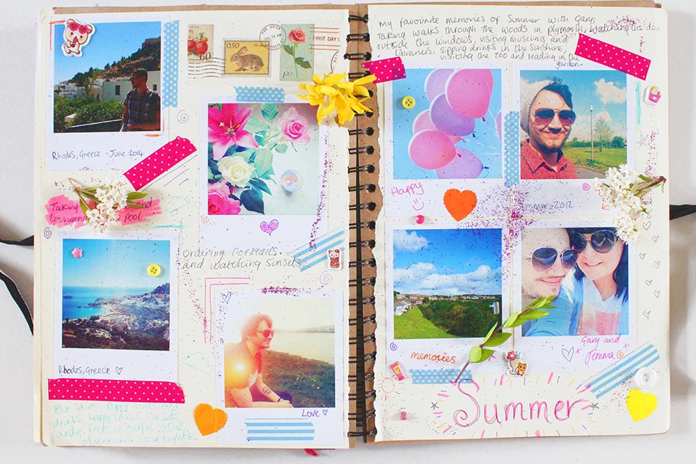 Starting A Summer Scrapbook