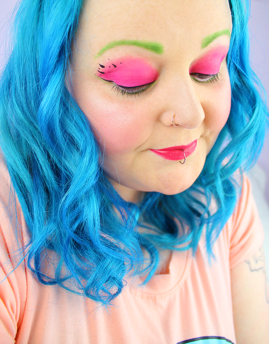 Watermelon Inspired Makeup Look