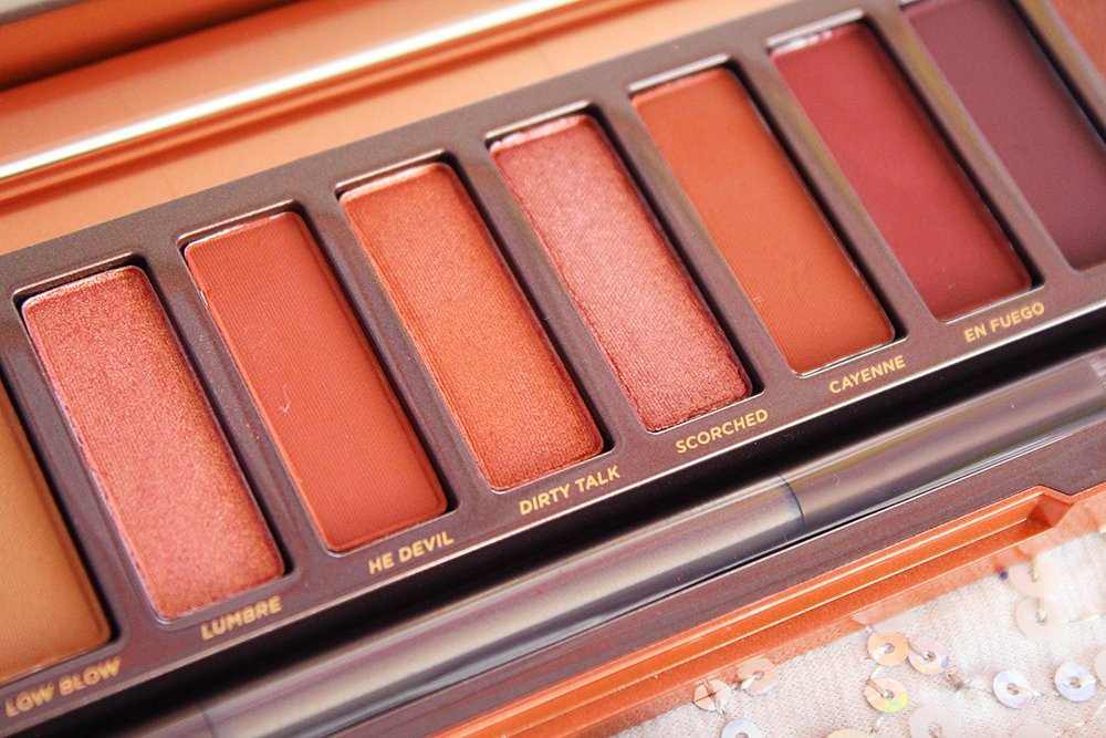 Urban Decay Naked Heat Palette Close up