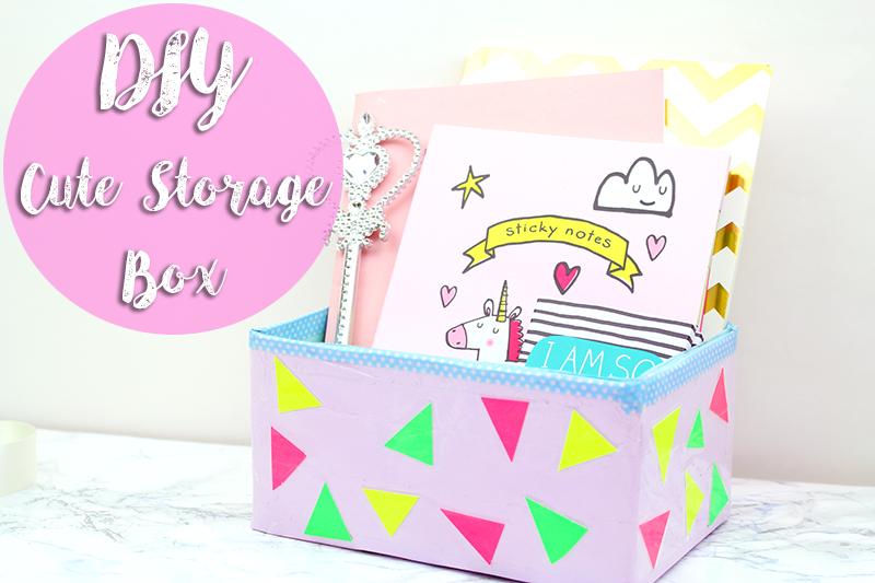 DIY cute storage box
