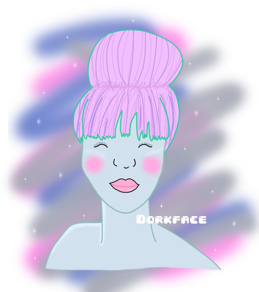 alien girl illustration