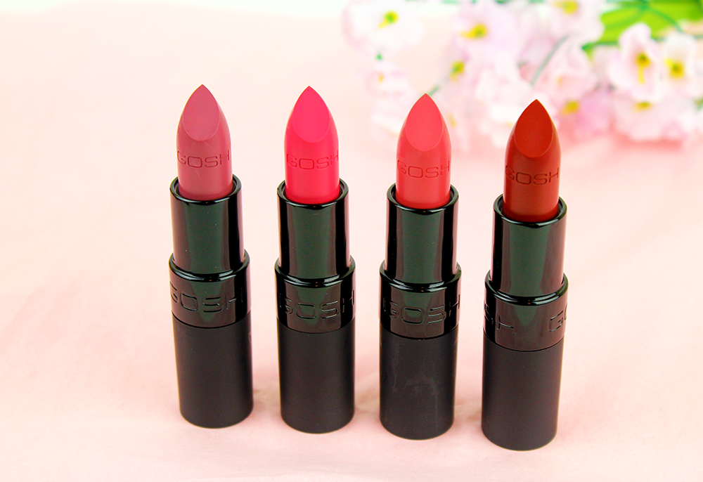 Gosh Velvet Touch Lipsticks